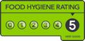Rated 5 Food Hygiene
